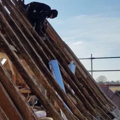 Vorbereitung der Dachneudeckung